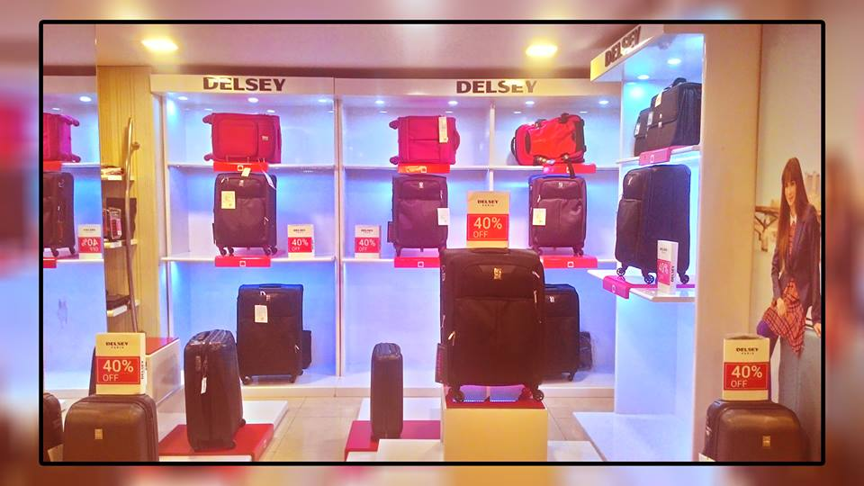 Display Of Delsey Luggage